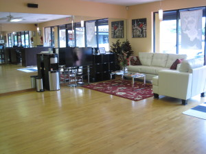 Your 2 Left Feet Ballroom Dance Studio Lounge Area